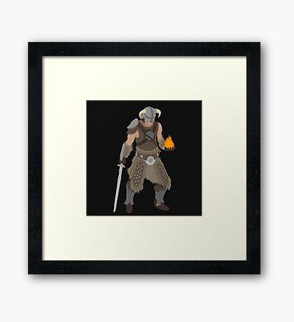 Skryim Dragonborn - Polygonal Framed Print