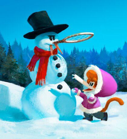 Tzika - winter Sticker
