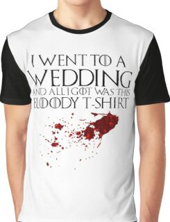 Bloody Wedding Graphic T-Shirt