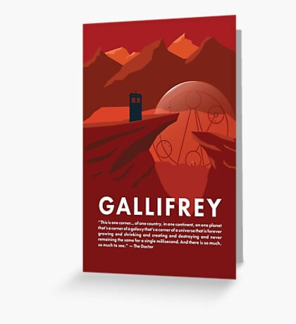 Gallifrey Poster Greeting Card