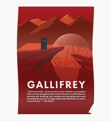 Gallifrey Poster Poster