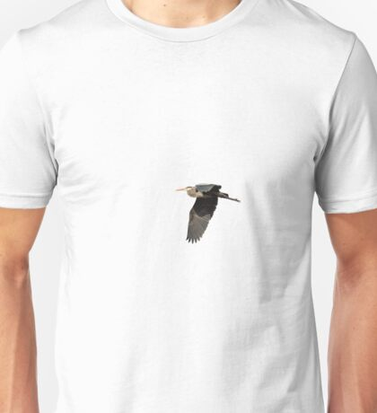Isolated Great Blue Heron 2015-4 Unisex T-Shirt