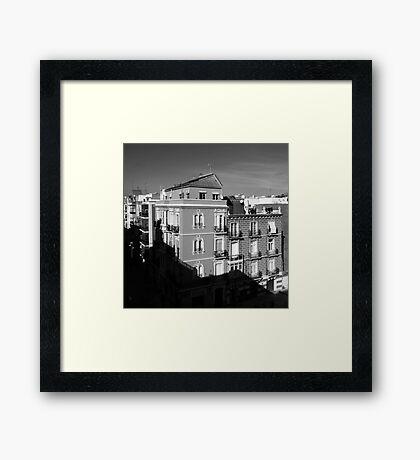 Buildings in Plaza de Risueño | Cartagena Spain Framed Print