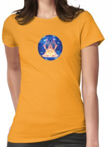 Fire in a Globe Womens Fitted T-Shirt
