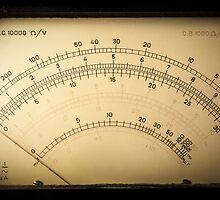 Vintage analog electric meter by enolabrain