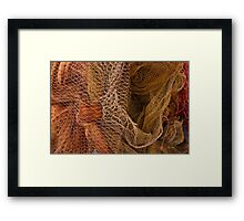 The wild and magic beauty of fishing nets ~ 11 Framed Print