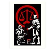 Law Enforcement in Dystopia Art Print