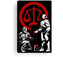Law Enforcement in Dystopia Canvas Print