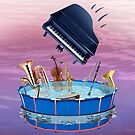 Musical Pool-party Piano Gate Crasher by didielicious