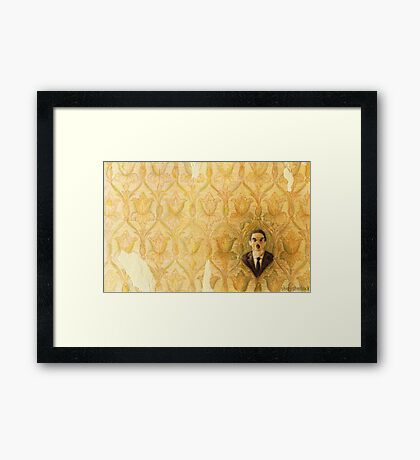 Madman in the Wallpaper Framed Print