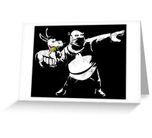 Riot Ogre Greeting Card