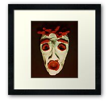 FEAR Mask © at Seventeen Framed Print