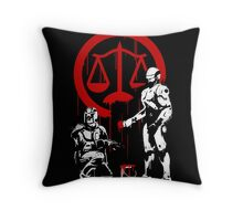 Law Enforcement in Dystopia Throw Pillow