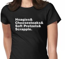 Philadelphia Foods Helvetica Womens Fitted T-Shirt