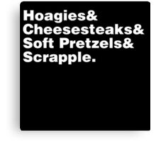 Philadelphia Foods Helvetica Canvas Print