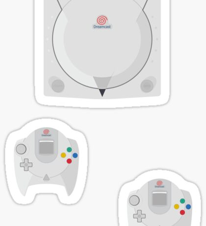 Dreamcast single (blue) Sticker
