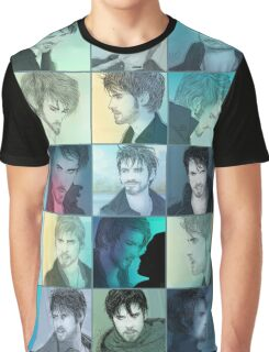 Dark!Killian Patchwork Graphic T-Shirt
