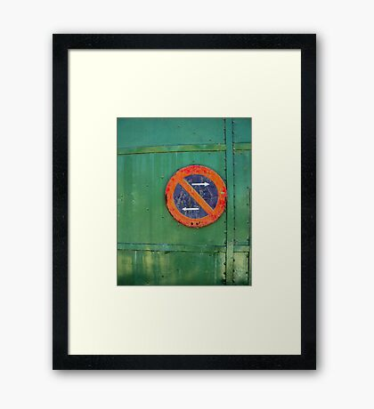 No Direction | Colour Framed Print