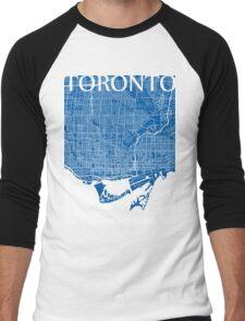 Toronto (Blue) Men's Baseball ¾ T-Shirt
