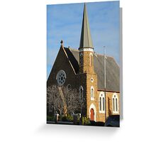 Another angle of St. Andrews Church. Forbes. Newall Highway N.S.W. Greeting Card