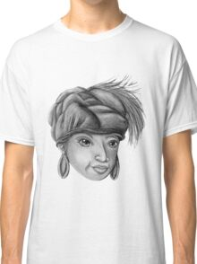 Gray-Scale Ethnic Woman  Classic T-Shirt