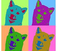 Shiba Inu Pop Art by AwkwardVixen
