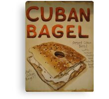 Cuban Bagel Canvas Print