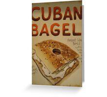 Cuban Bagel Greeting Card