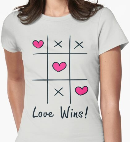 Love Wins Tic Tac Toe Womens Fitted T-Shirt