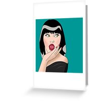 cool woman  Greeting Card