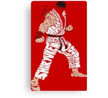 Ryu Typography Canvas Print