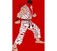 Ryu Typography Photographic Print