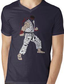 Ryu Typography Mens V-Neck T-Shirt