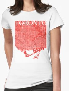 Toronto (Red) Womens Fitted T-Shirt