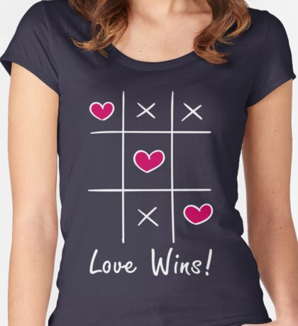 Love Wins Noughts and Crosses Women's Fitted Scoop T-Shirt