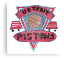 Detroit Pistons design Canvas Print