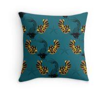 Two Fish & Starfish Throw Pillow