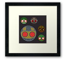 minimalistic chibi guardians:  the theif Framed Print