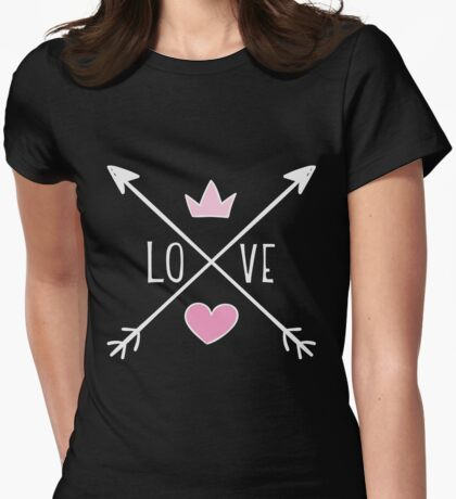 Love Crossed Arrows  Womens Fitted T-Shirt