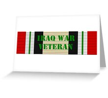 Iraq Veteran Greeting Card