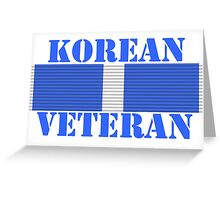 Korean Veteran Greeting Card
