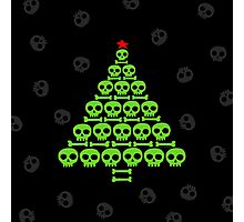 Green Skull and Bones Christmas Tree  Photographic Print