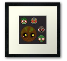 minimalistic chibi guardians:  the house plant Framed Print