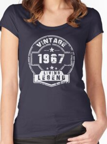 BORN IN 1967 Women's Fitted Scoop T-Shirt