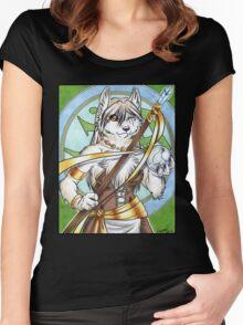Zorra the White Werewolf  Women's Fitted Scoop T-Shirt