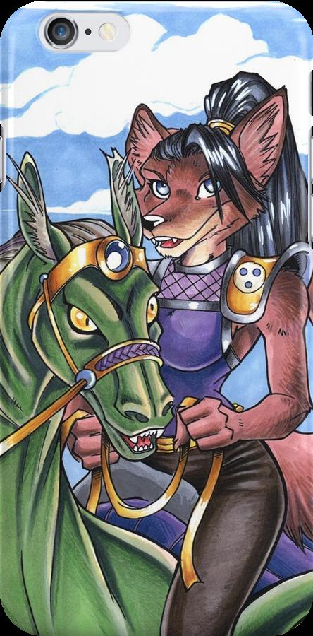 Dragon Rider Fox by cybercat