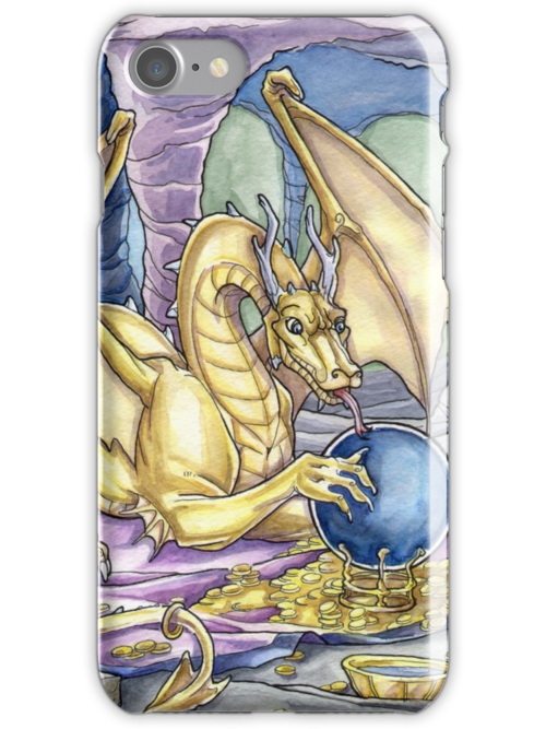 Golden Dragon Iphone Case by cybercat