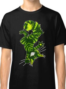 Green Funky Cat  Classic T-Shirt