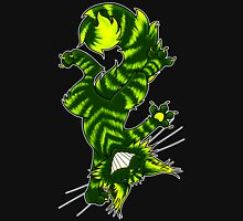Green Funky Cat  Unisex T-Shirt