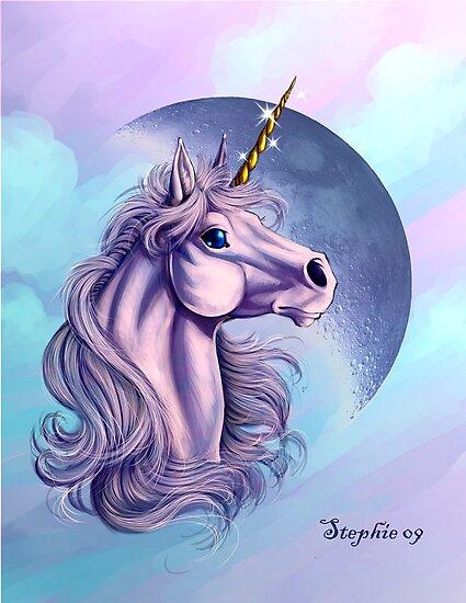 Lunar Unicorn by cybercat